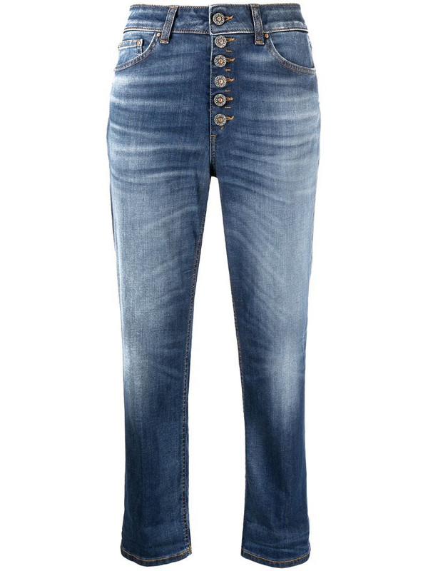 Dondup Koons loose-fit cropped jeans in blue