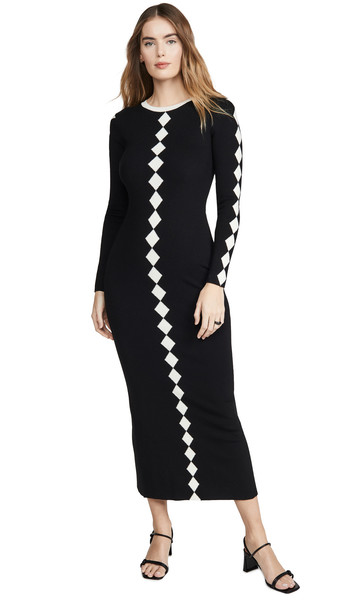 Victor Glemaud Contrast Dress in black / white