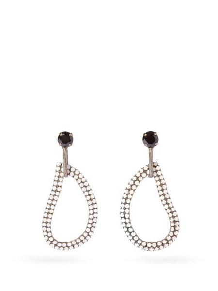 Zeus + Dione Zeus + Dione - X Ileana Makri Lachouri Crystal Drop Earrings - Womens - White