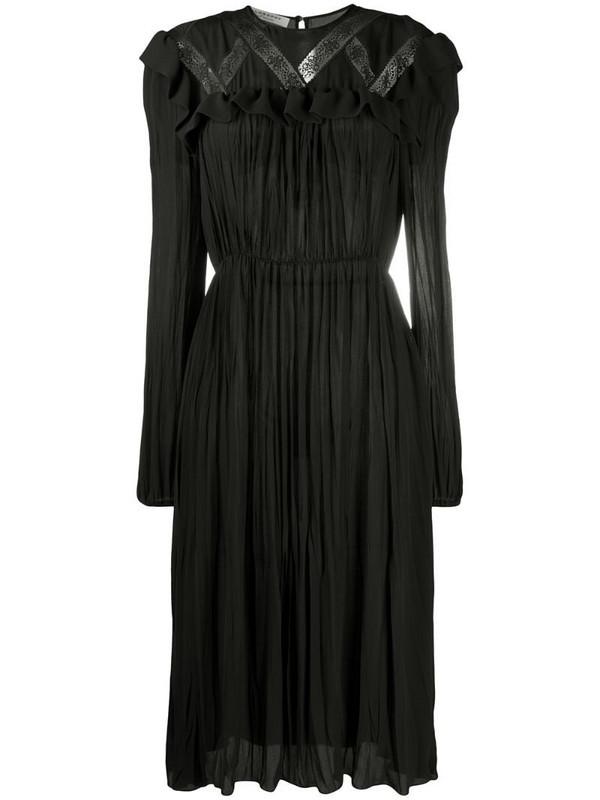 Philosophy Di Lorenzo Serafini lace-detail flared dress in black