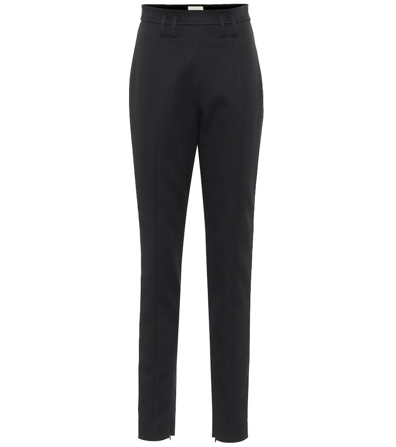 Khaite Reba high-rise slim pants in black