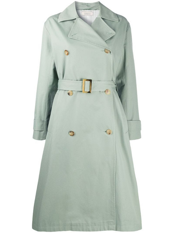Nina Ricci double-breasted belted coat in green