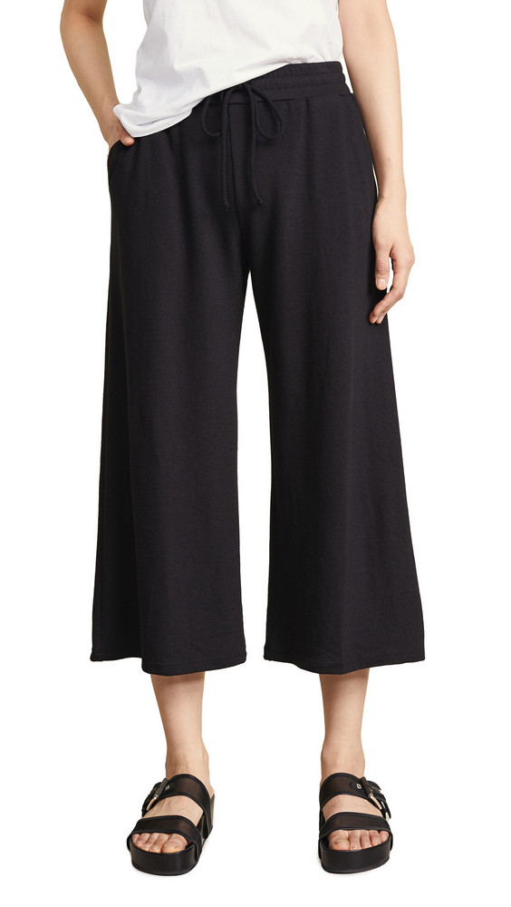 Lanston Cropped Wide Leg Pants in black