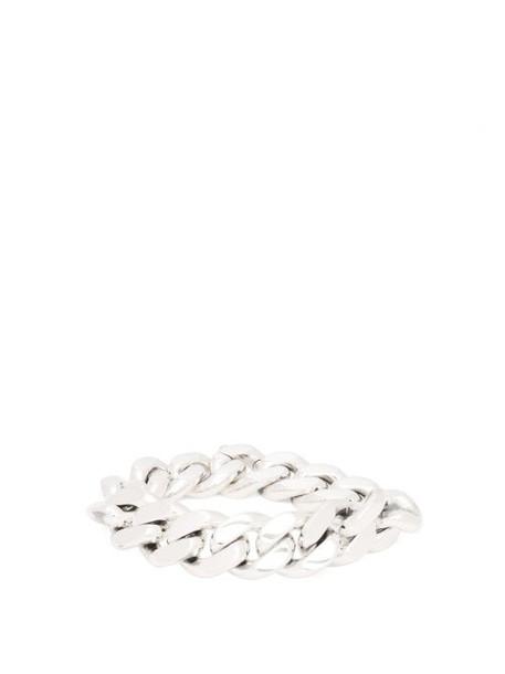 Bottega Veneta - Sterling Silver Chain Bracelet - Womens - Silver