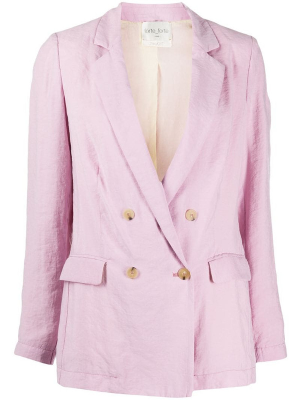 Forte Forte double breasted blazer in pink