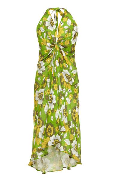 DoDo Bar Or Jennifer Long Printed Cotton Dress in print