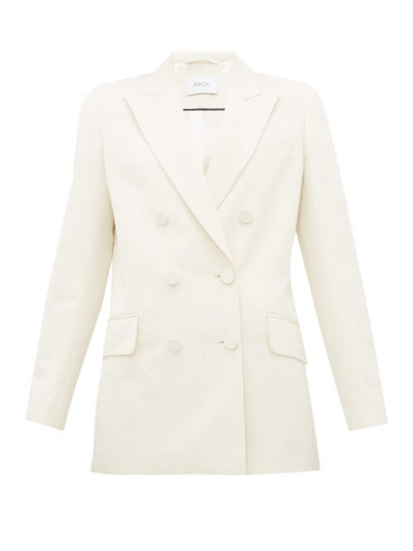 Racil - Audrey Double Breasted Grosgrain Jacket - Womens - Ivory