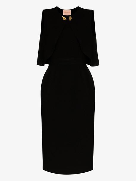 Roksanda cape back midi dress in black