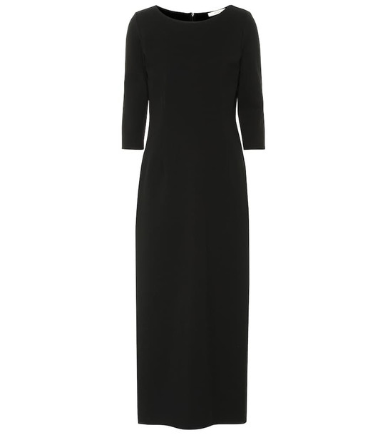 The Row Tilden boatneck midi dress in black