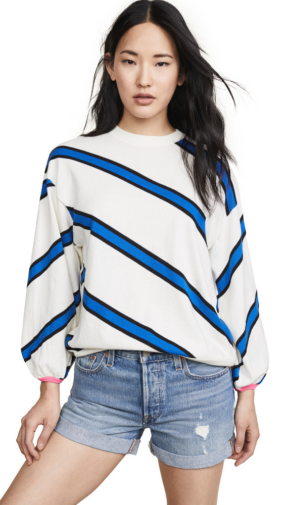 NUDE Striped Sweater in blue / white