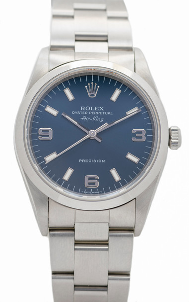 Stephanie Windsor One of a Kind Rolex Oyster Perpetual Air King Watch in blue
