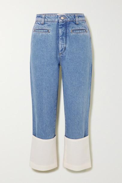 Loewe - Fisherman High-rise Straight-leg Jeans - Blue