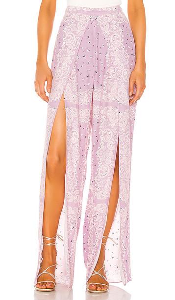 Lovers + Friends Lovers + Friends Ravenna Pant in Purple