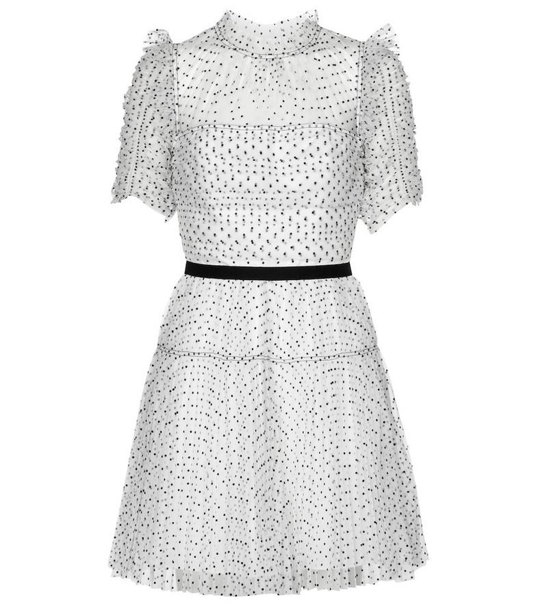 Self-Portrait Tulle minidress in white