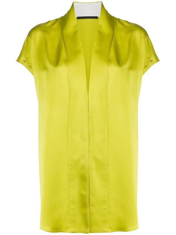 Haider Ackermann v-neck blouse in green