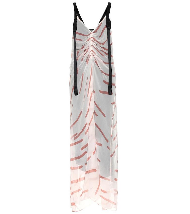 Lee Mathews Elsa printed silk dress in pink