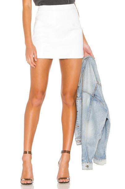 superdown Cherie Mini Skirt in white
