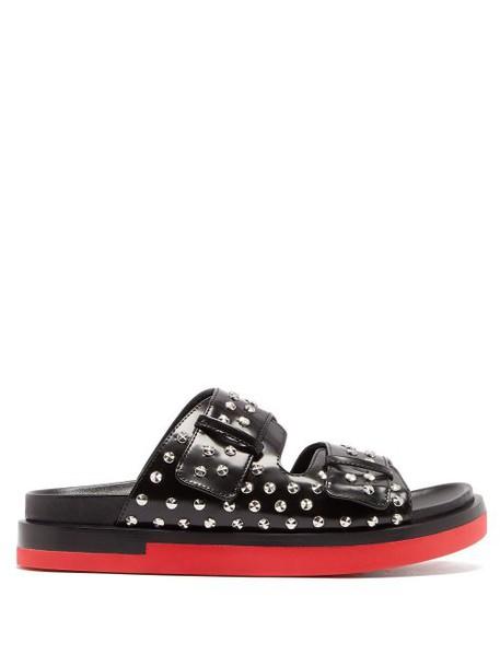 Alexander Mcqueen - Studded Leather Flatform Sandals - Womens - Black
