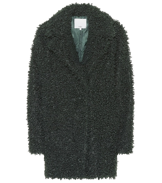 Tibi Teddy coat in green