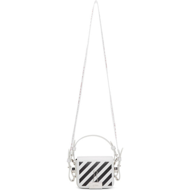 Off-White White and Black Baby Flap Diag Bag
