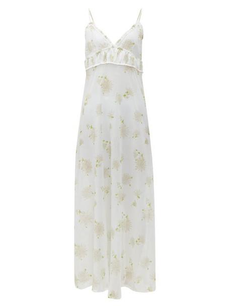 La Costa Del Algodón - Florine Floral Print Cotton Nightdress - Womens - White Print