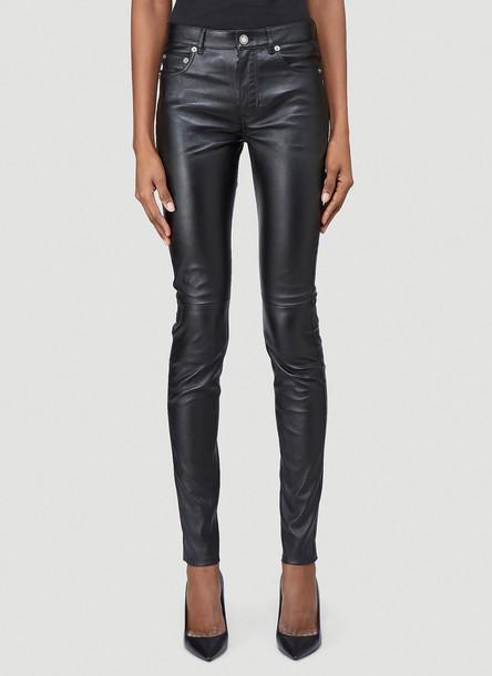 Saint Laurent Skinny Leather Pants in Black size FR - 38