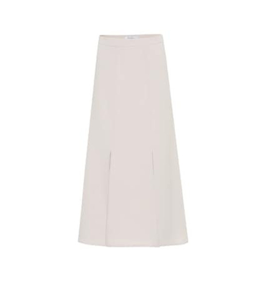 Max Mara Road stretch-wool midi skirt in grey