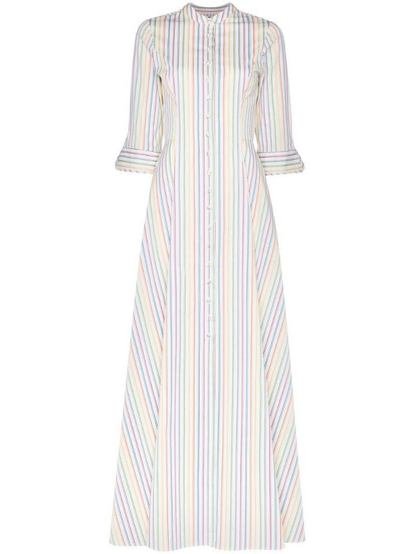 Evi Grintela Amaryllis striped maxi dress in white