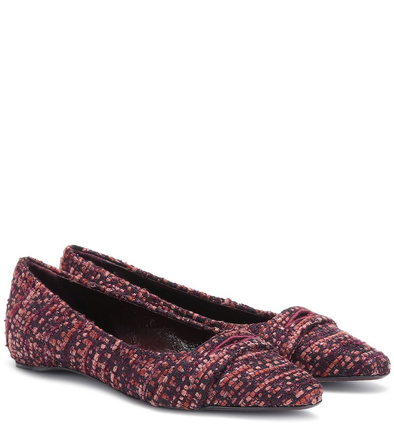 Bougeotte Bouclé ballet flats in red