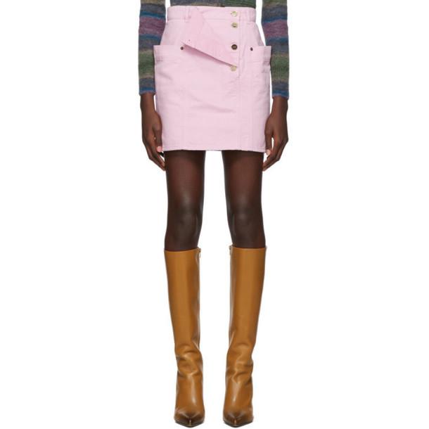 Jacquemus Pink La Jupe De Nimes Miniskirt