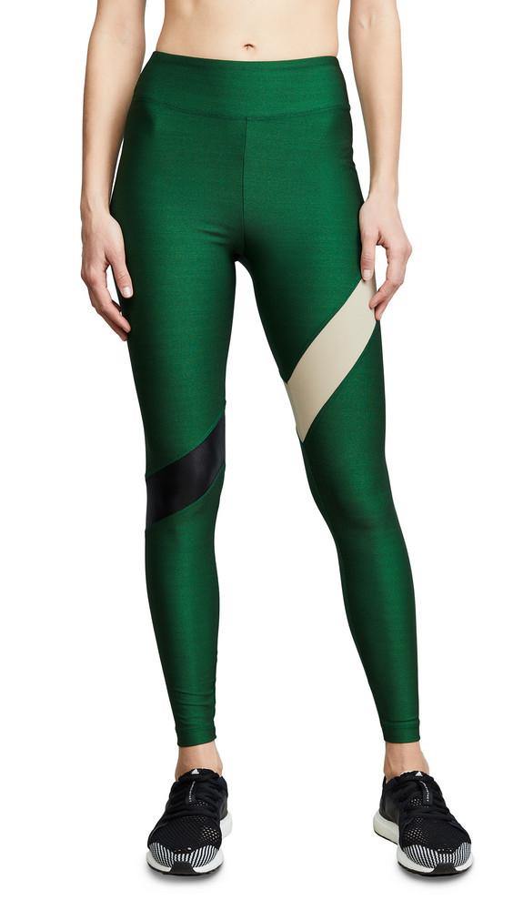 KORAL Aello Shantung Leggings in black / green