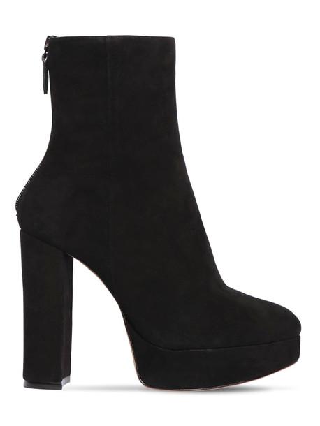 ALEXANDRE BIRMAN 130mm Rachel Suede Platform Ankle Boots in black