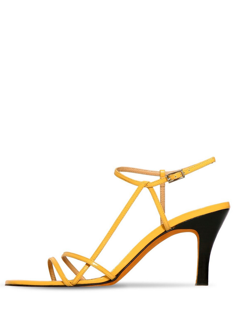MARYAM NASSIR ZADEH 95mm Irene Patent Leather Sandals in yellow