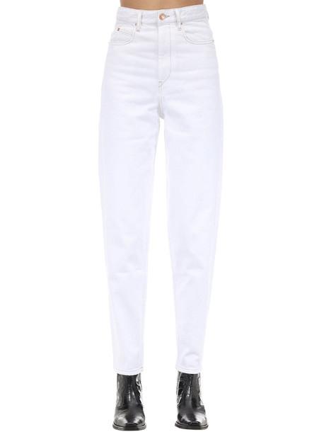 ISABEL MARANT ÉTOILE Corsy J Boyfriend Cotton Denim Jeans in white