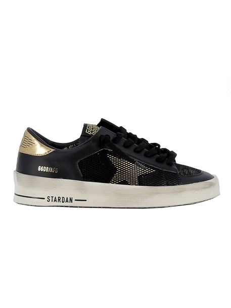 Golden Goose Black/gold Leather Sneakers