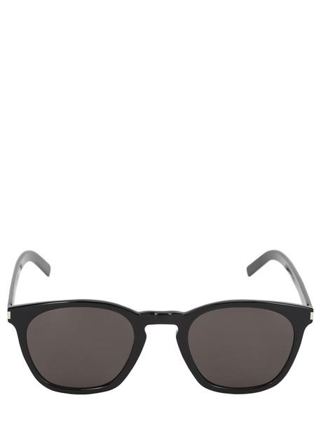 SAINT LAURENT Sl28 Slim Acetate Sunglasses in black