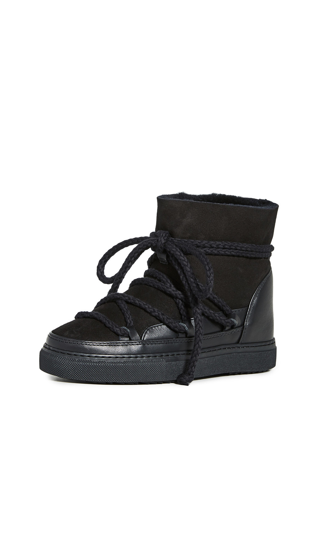 Inuikii Classic Shearling Sneakers in black