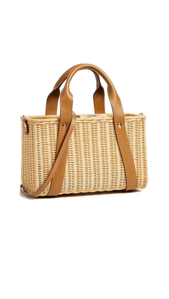 Kayu Daisy Wicker Tote Bag in natural