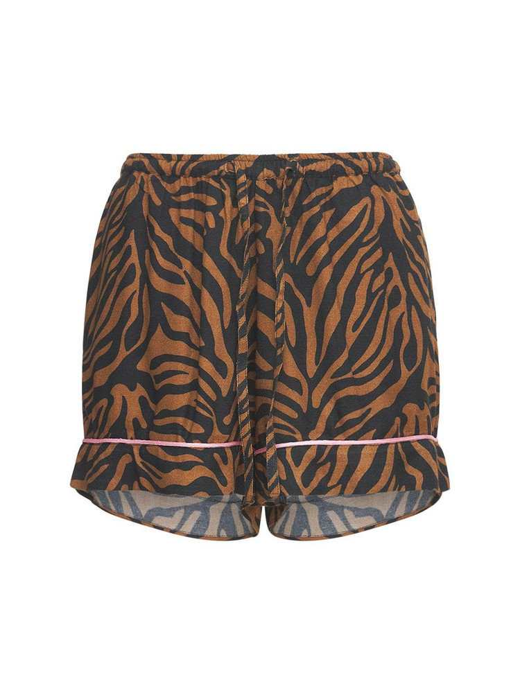 UNDERPROTECTION Rania Tiger Print Pajama Shorts