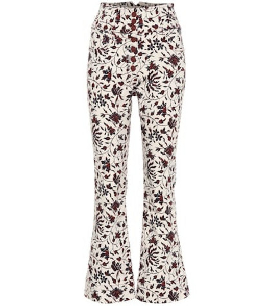 Ulla Johnson Ellis high-rise cropped jeans in white