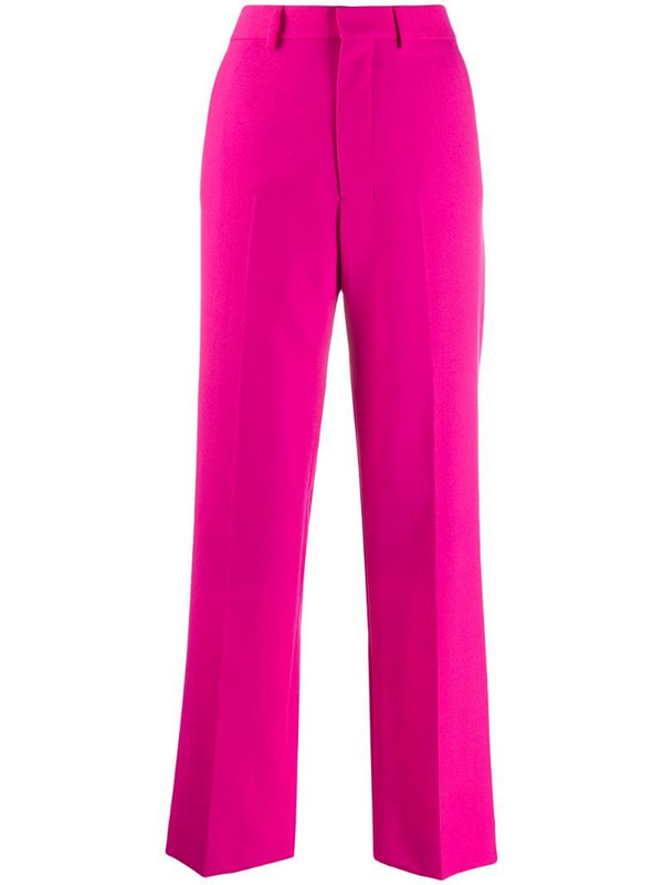 AMI Paris wide-fit trousers in pink