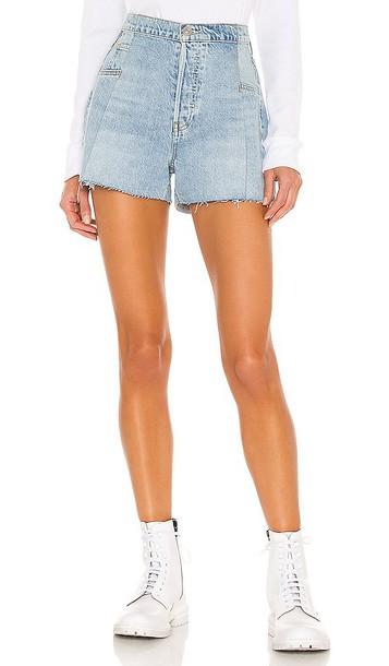 Hudson Jeans Paperbag Loose Short in Blue