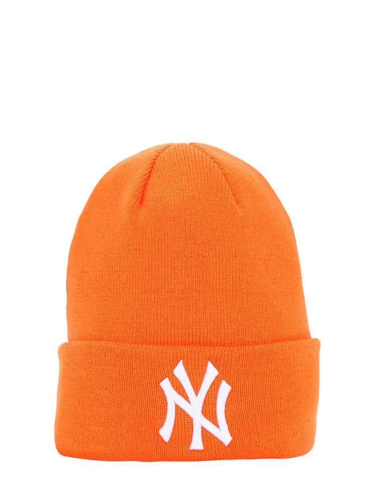 NEW ERA League Essential Cuff Knit Beanie Hat in orange