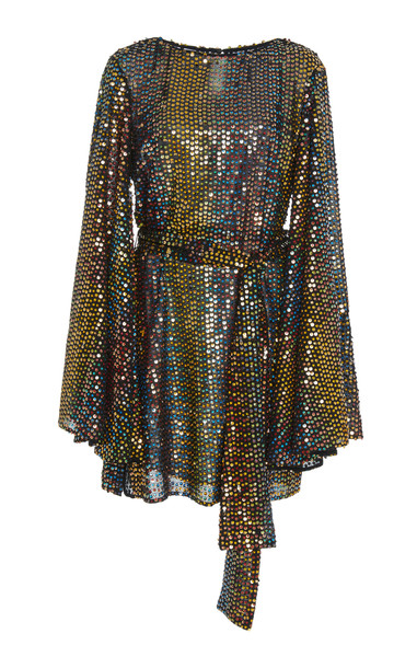 Caroline Constas Anya Metallic Dress