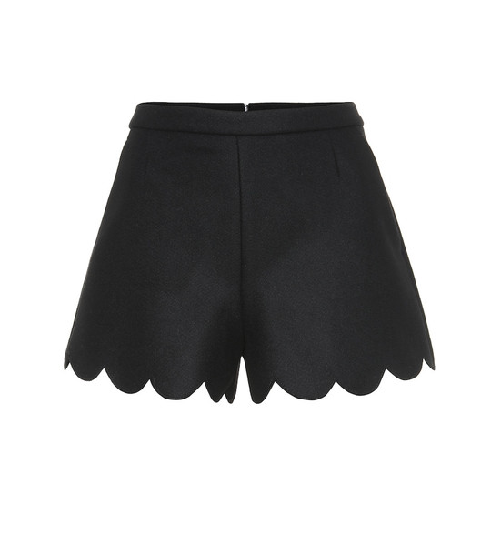 REDValentino Wool-blend shorts in black