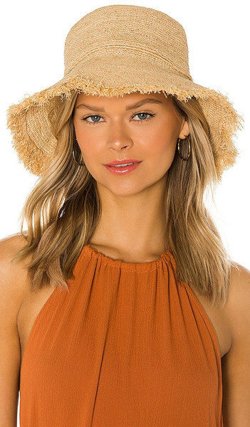 Hat Attack Packable Raffia Bucket Hat in Neutral in natural