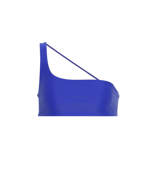 Jade Swim Apex one-shoulder bikini top in blue