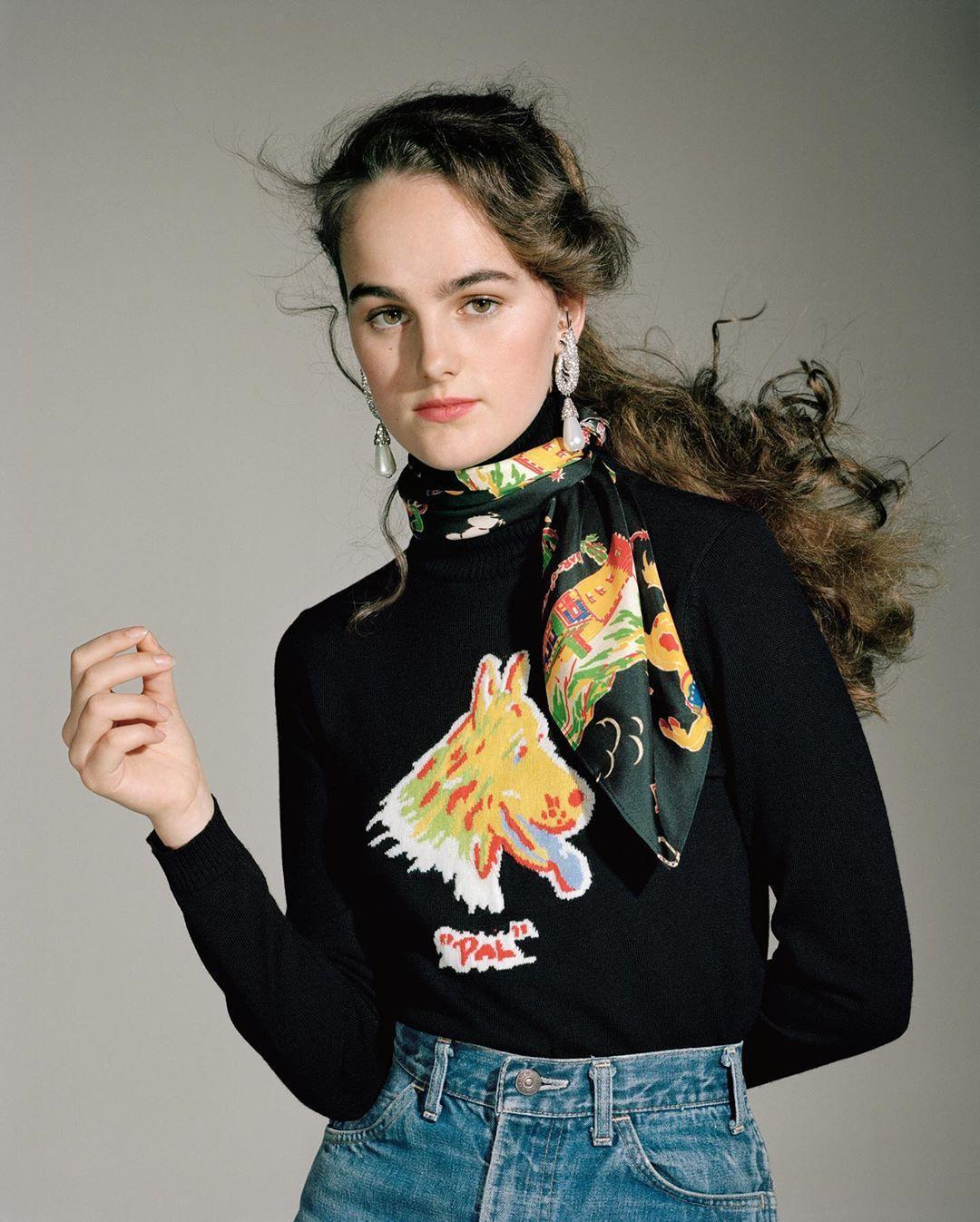 sweater scarf jewels