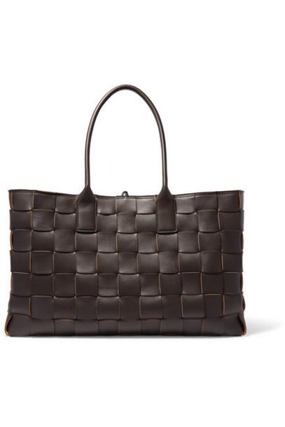 Bottega Veneta - Cabas Medium Intrecciato Leather Tote - Brown