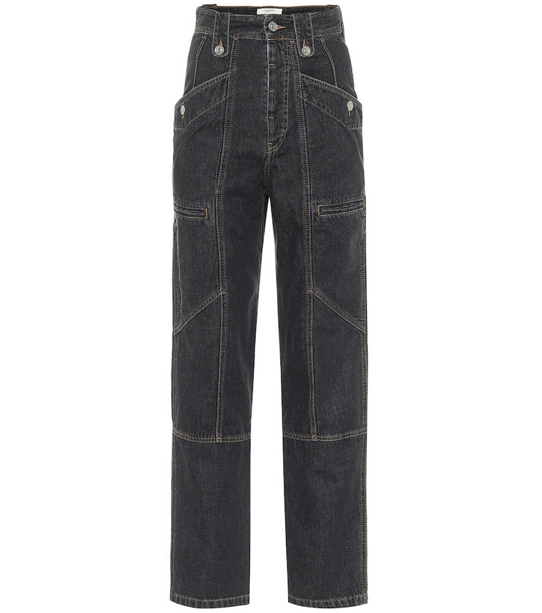 Isabel Marant, Étoile High-rise straight jeans in black